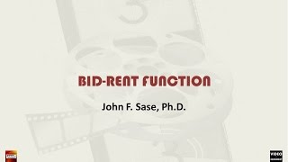 Real Estate Bid Rent Function: Commuting Cost & Income Affect Housing Demand