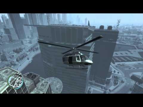 GTA IV - Demaged Helicopter Crash