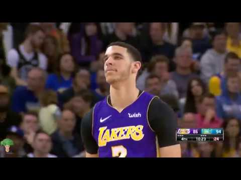 Lonzo Ball Full Lowlights 2018-3-14 Los Angeles Lakers vs Golden State Warriors