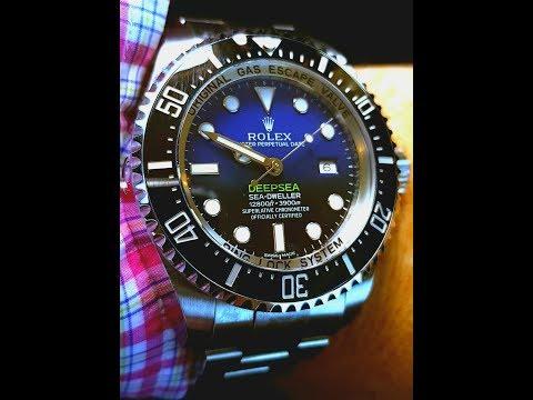 """Rolex Deepsea D-blue 116660 James Cameron on 6.5"""" wrist"""
