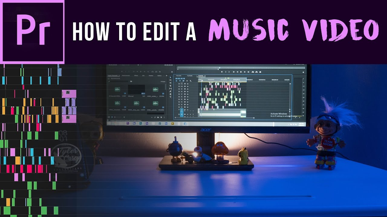 how to make music and video sinc in premier pro