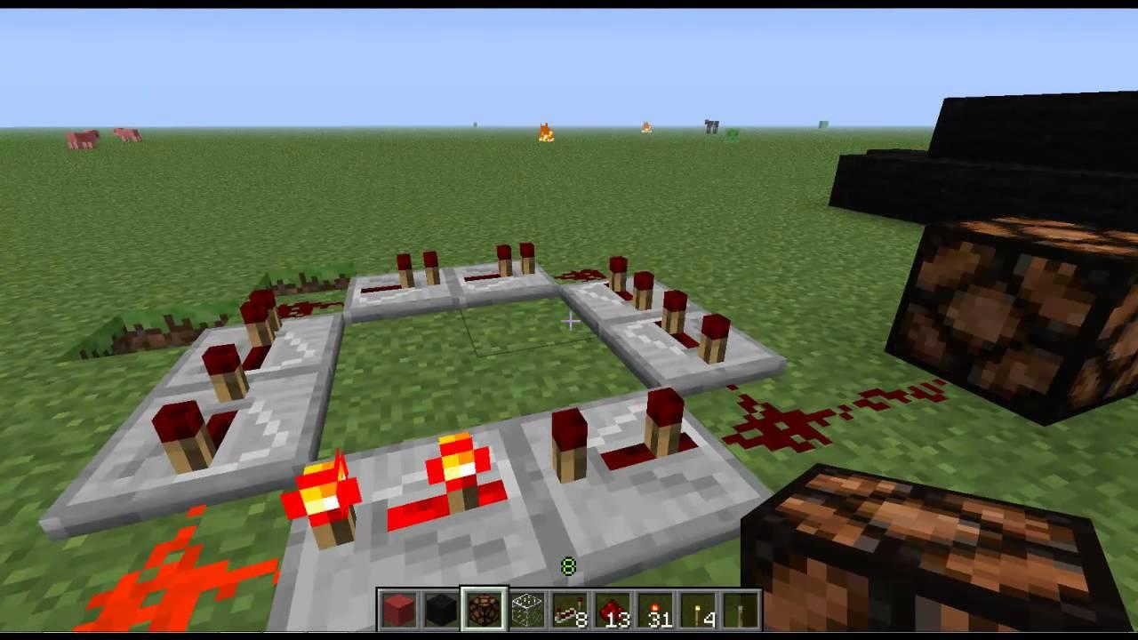 Minecraft 1 7 5 How To Make A Flashing Light Strobe Light