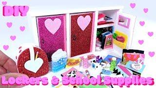 10 DIY Miniature Lockers, Backpack, & School Supplies