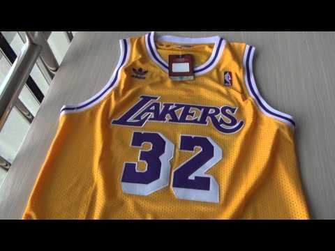 3934bfcaa5e Los Angeles Lakers #34 Magic Johnson Hardwood Classic jersey from  jennyloopnfljerseys - YouTube