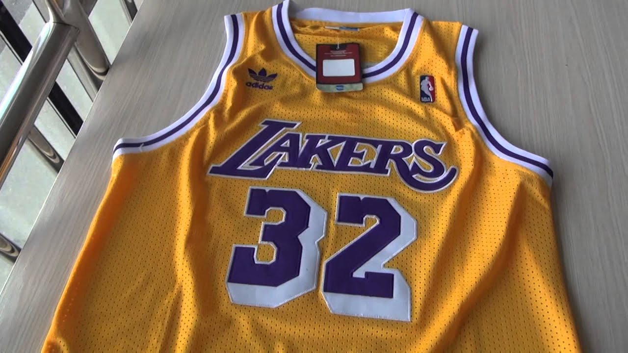 sports shoes 68041 889bb Los Angeles Lakers #34 Magic Johnson Hardwood Classic jersey from  jennyloopnfljerseys