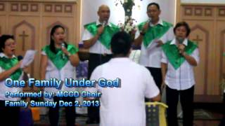 One Family Under God performed by UCCP MCCD