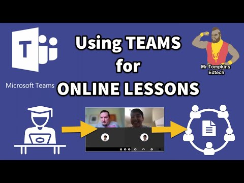 Online Lessons Using Microsoft Teams For Remote Learning