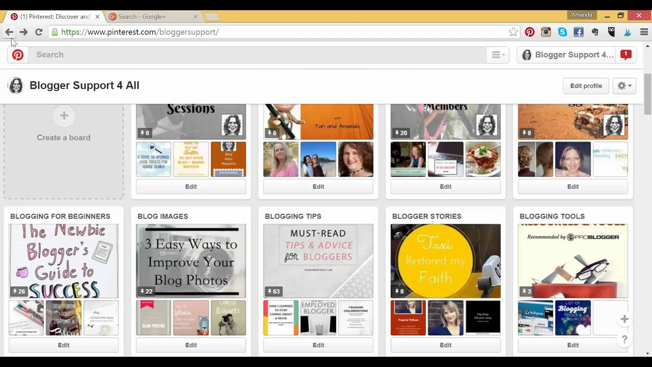Using the Pinterest Search Bar