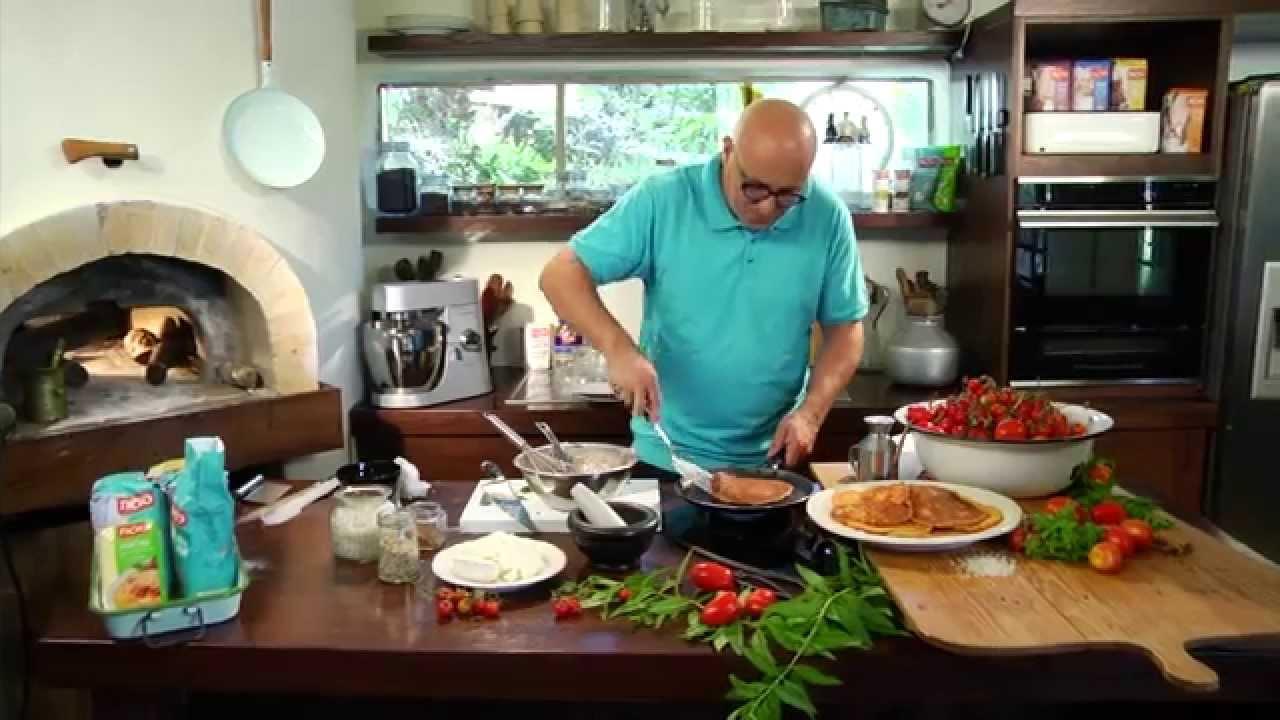 מתכוני סוגת: פנקייק מלוח של עגבניות ופרמזן