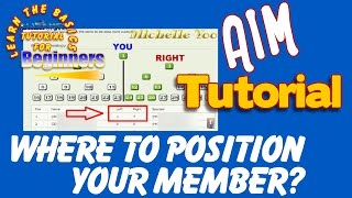 AIM GLOBAL-SAAN DAPAT I-POSITION ANG NEW MEMBER?(Tutorial)