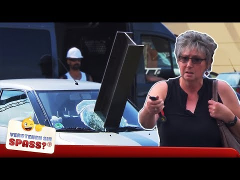 Der Stahlträger im Auto   Verstehen Sie Spaß?