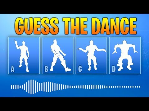 Guess The Fortnite Dance Name By The Sound - Music #1 - Fortnite challenge