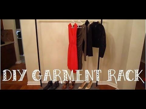 DIY: Industrial Style Garment Rack - YouTube