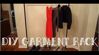DIY: Industrial Style Garment Rack