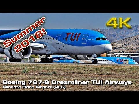 Two  Boeing 787 [4K]  Dreamliner  (Summer 2018) Alicante