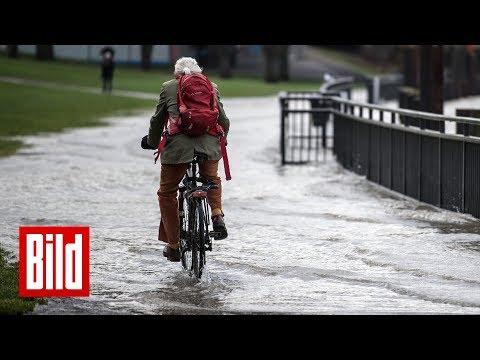 Wettervorhersage - Hochwassergefahr am Rhein - Bis zu 16 Grad warm