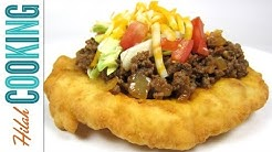 Homemade Indian Tacos and Indian Frybread Recipe | Hilah Cooking