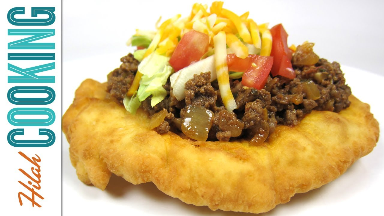 Homemade indian tacos and indian frybread recipe hilah cooking homemade indian tacos and indian frybread recipe hilah cooking youtube forumfinder Choice Image