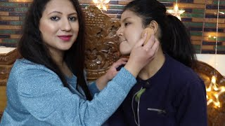 "Step by Step Long Lasting Party Makeup Tutorial in Hindi | Doing my friend""s makeup"