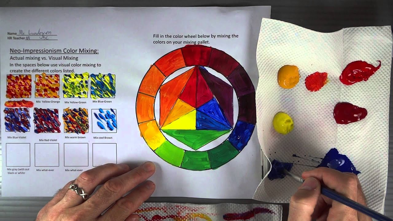 Color Mixing Part 4 5 Orange And Green 2 Youtube