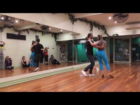Arthur & Layssa Samba de Gafieira tuition at Dance 4 Life in Melbourne July 2016