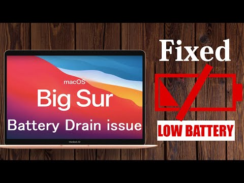 How to Solve Big Sur Battery Drain Issue