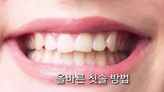 올바른 칫솔 방법 ㅡ 치아 바르게 닦는 방법, How to brush your teeth