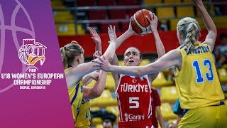 Sweden v Turkey - Full Game - FIBA U18 Women's European Championship Division B 2019