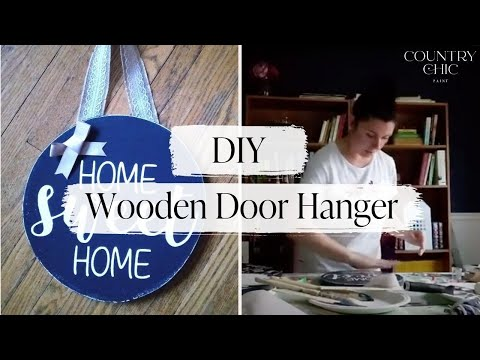 How to Paint a Wooden Door Hanger | Front Door Decor Craft with Country Chic Paint