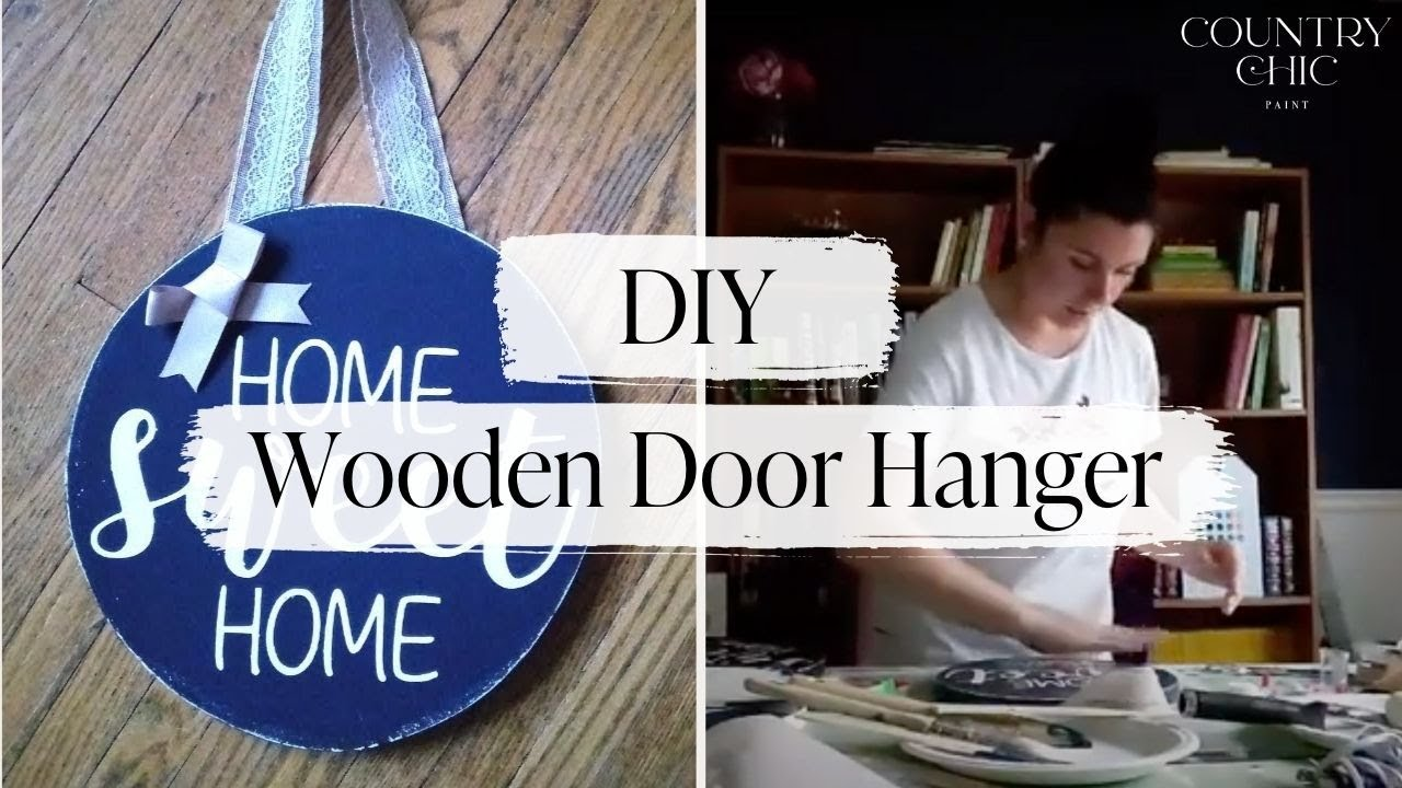 Diy Upcycled Wooden Door Hanger Craft Front Door Decor With Country Chic Paint Youtube