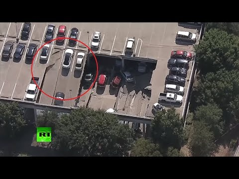 RAW: Moment 2nd floor of parking garage collapses in Dallas
