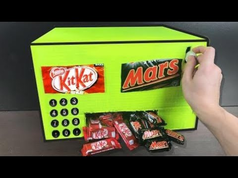 HOW TO MAKE A CHOCOLATE VENDING MACHINE (HOMEMADE) HD