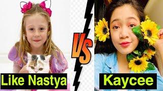 Like Nastya *VS* kaycee || Lifestyle Comparison 2020 || MG TV