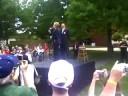 Izzy Weaver attends Hillary Clinton speech