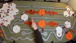 50+ HexBug Nanos Battle Through FOUR Bridge Battle Arenas in The 'Viking Battles'