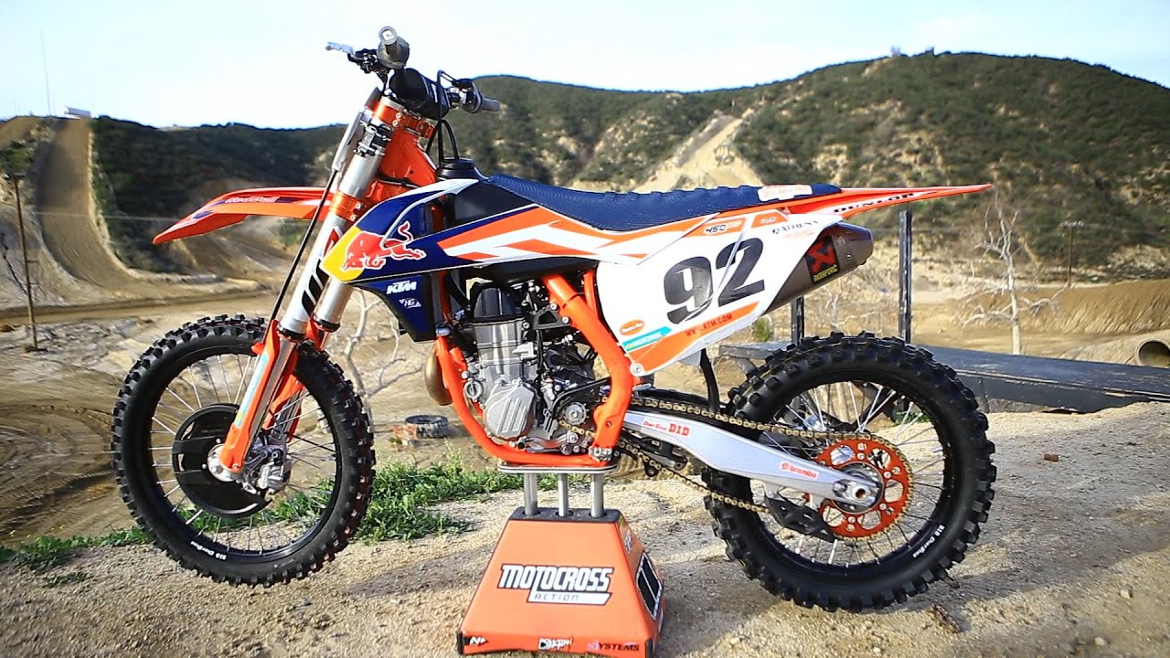 first ride 2016 ktm 450sxf factory edition - motocross action