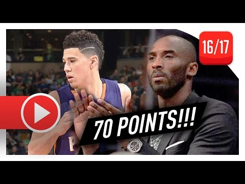 Devin Booker UNREAL Full Highlights vs Celtics (2017.03.24) - Career-HIGH 70 Pts, MAKES HISTORY!