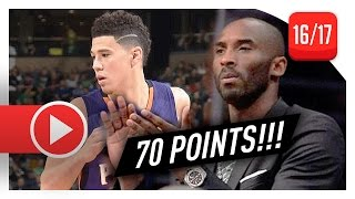Devin Booker UNREAL Full Highlights vs Celtics (2017.03.24) - Career-HIGH 70 Pts, MAKES HISTORY!