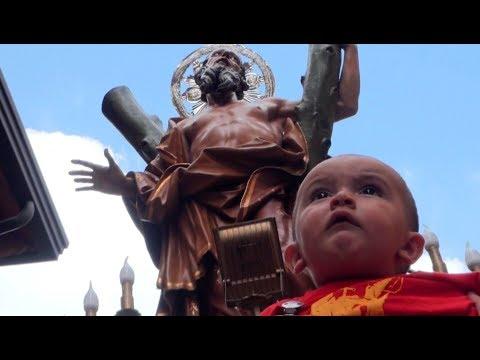 Gricignano (CE) - Festa di Sant'Andrea, inizio processione (26.08.18)