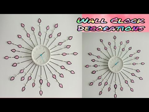Designer wall clock/wall clock decorations/diy wall clock/floral designer wall clock/Diy clock
