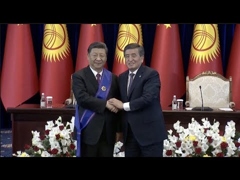 Xi Receives Kyrgyzstan's Highest State Honor