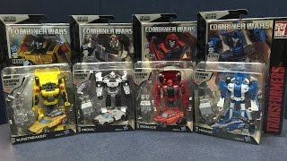 Transformers: Combiner Wars - Deluxe Class WAVE 4 (Sunstreaker, Ironhide, Mirage, Prowl)