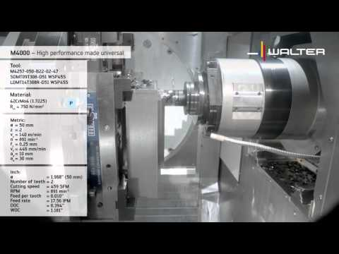 M4000: M4256, M4257 and M4258 porcupine milling cutters, long edge milling - Walter Tools