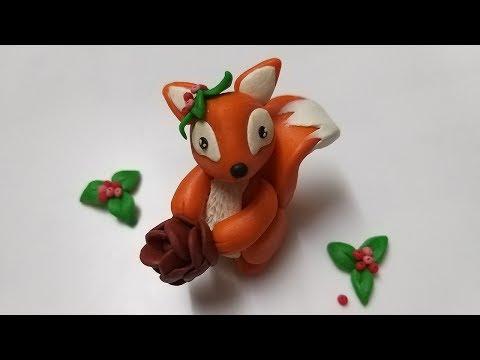 🌰 Как слепить белочку из мастики, пластилина, полимерной глины (Cake/Fondant Topper - Squirrel).