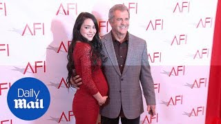 Mel Gibson and his pregnant wife Rosalind Ross arrive at AFI - Daily Mail