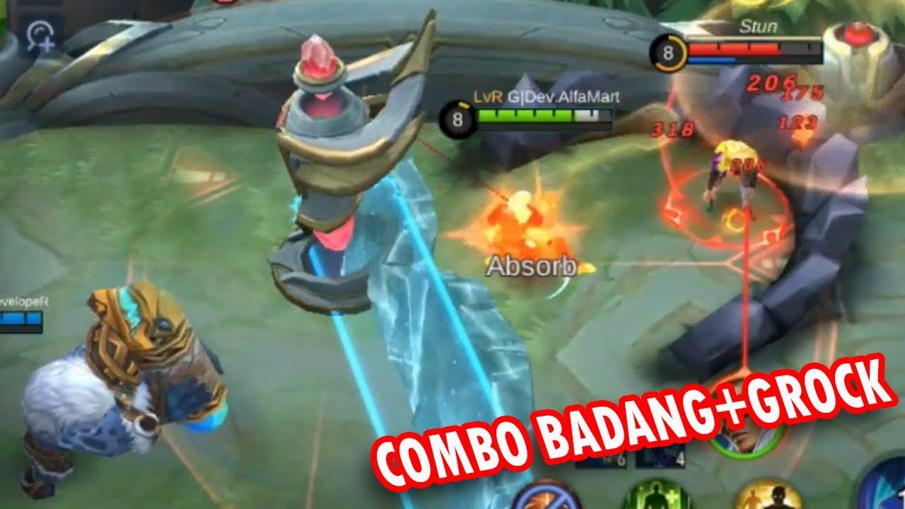 Badang Grock COMBO WOMBO Mobile Legends Funny Gameplay