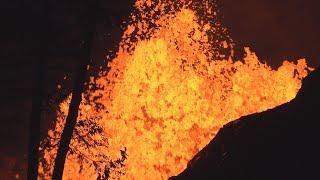 Kilauea Volcano Hawaii Fissure Eruption 4K Stock Footage Reel thumbnail
