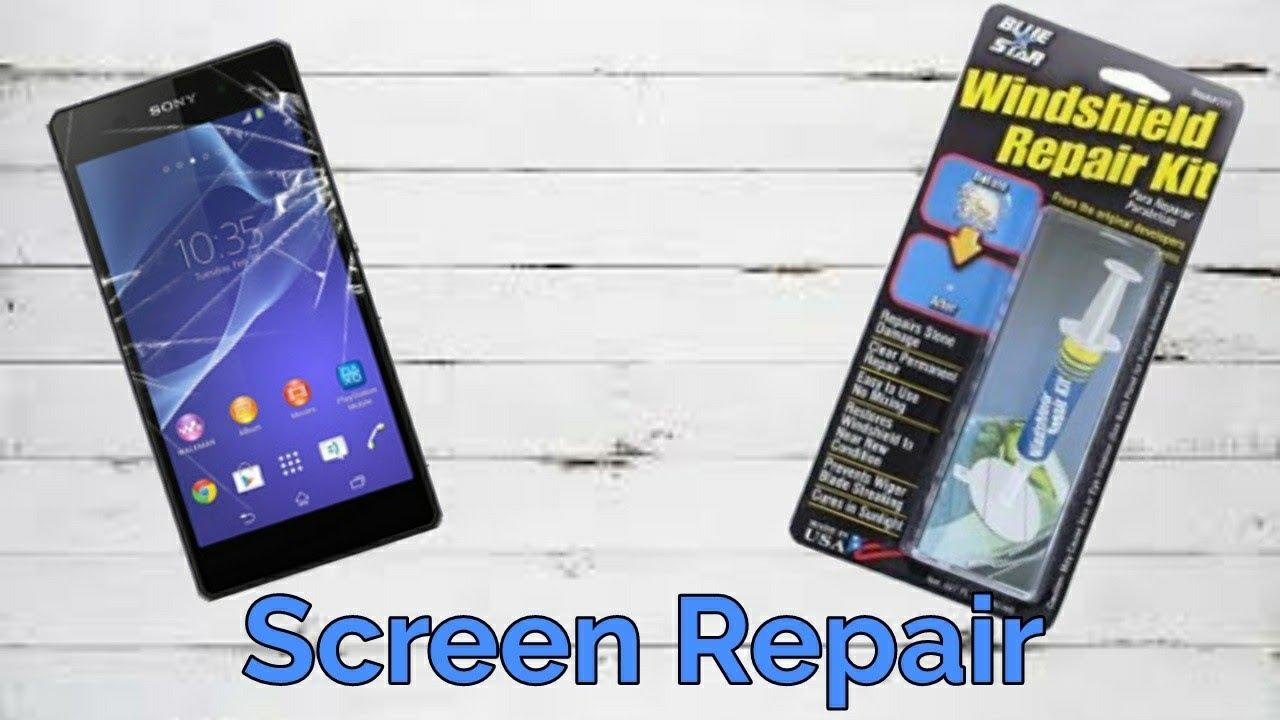 Windshield Glass Repair Kit >> Repair A Phone Screen with a Windshield Repair Kit - YouTube