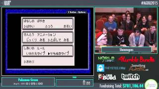 Awesome Games Done Quick 2015 - Part 166 - Pokemon Green by Shenanagans