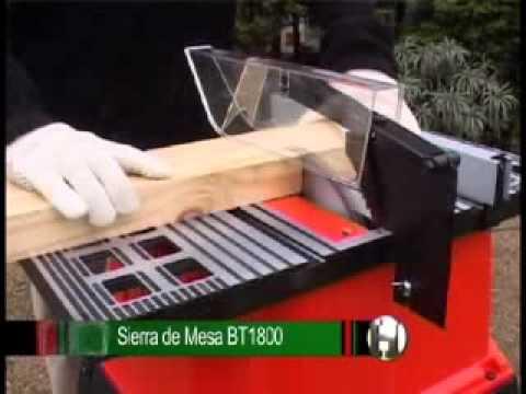 Sierra de mesa de 10 1500w black decker bt1800 andaca for Sierras de mesa